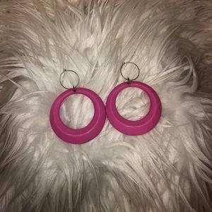 Pink Vintage 80's Earrings